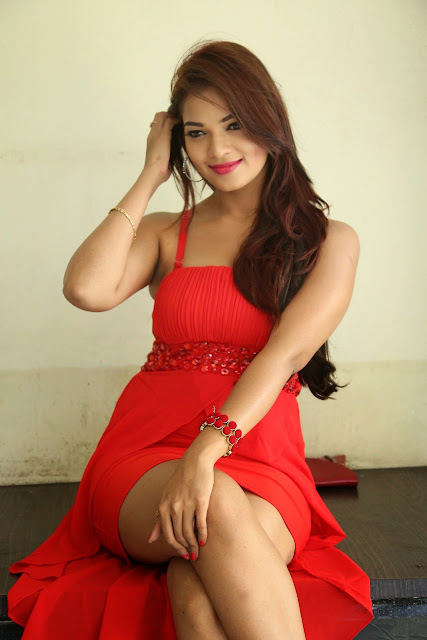 Ashwini glamorous photos in red-HQ-Photo-19