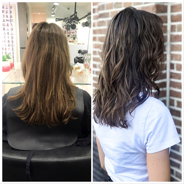 Salon B before en after