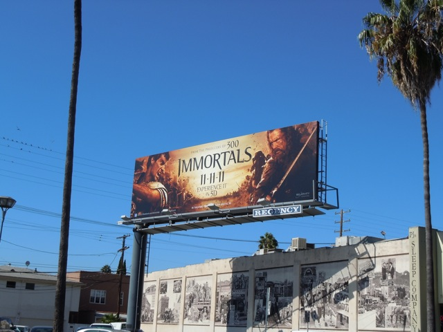 Immortals movie billboard