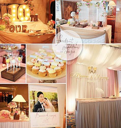 Wedding Decoration in Gold/Pink theme color @Harbour Grand Kowloon