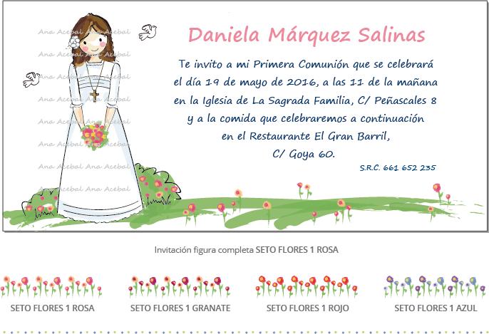 Invitacion comunion personalizada original bonita