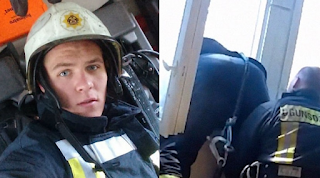 Ο πυροσβέστης της χρονιάς, έπιασε στον αέρα γυναίκα που πήδηξε από το μπαλκόνι της
