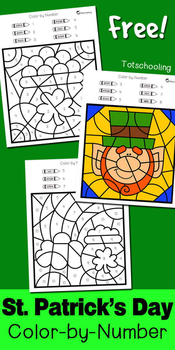 free st patricks day coloring worksheets to practice numbers fine motor skills and color - St Patricks Day Pictures To Color 2