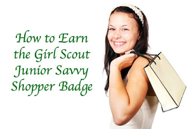 Lesson plans on how to earn the Girl Scout Junior Savvy Shopper badge.