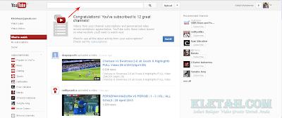 Halaman Depan Youtube
