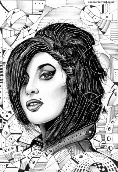 Drawing by artist Spencer J. Derry on Artfinder