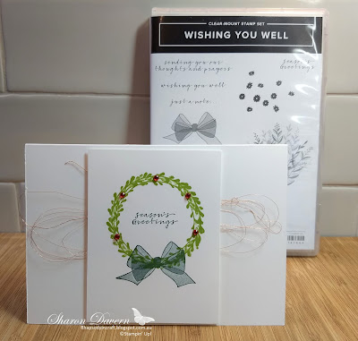 Christmas Card, Wishing You Well, Colour Creations Blog Hop, Granny Apple Green
