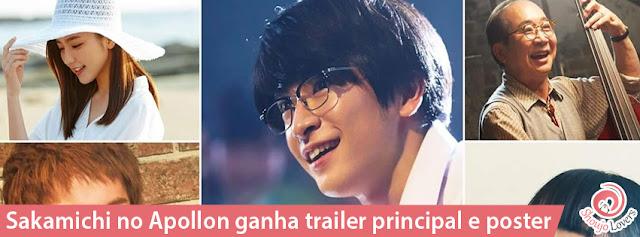 Sakamichi no Apollon ganha trailer principal e poster