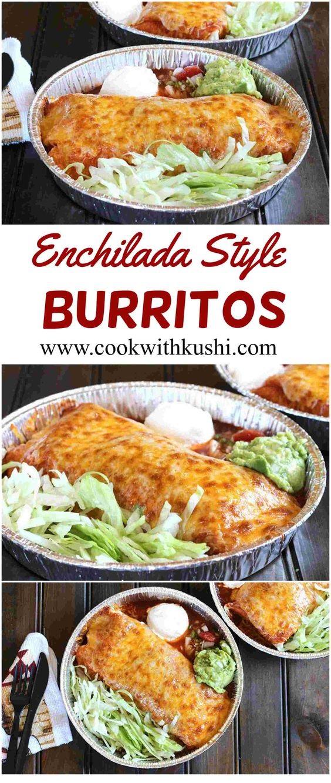 Enchilada Style Burritos