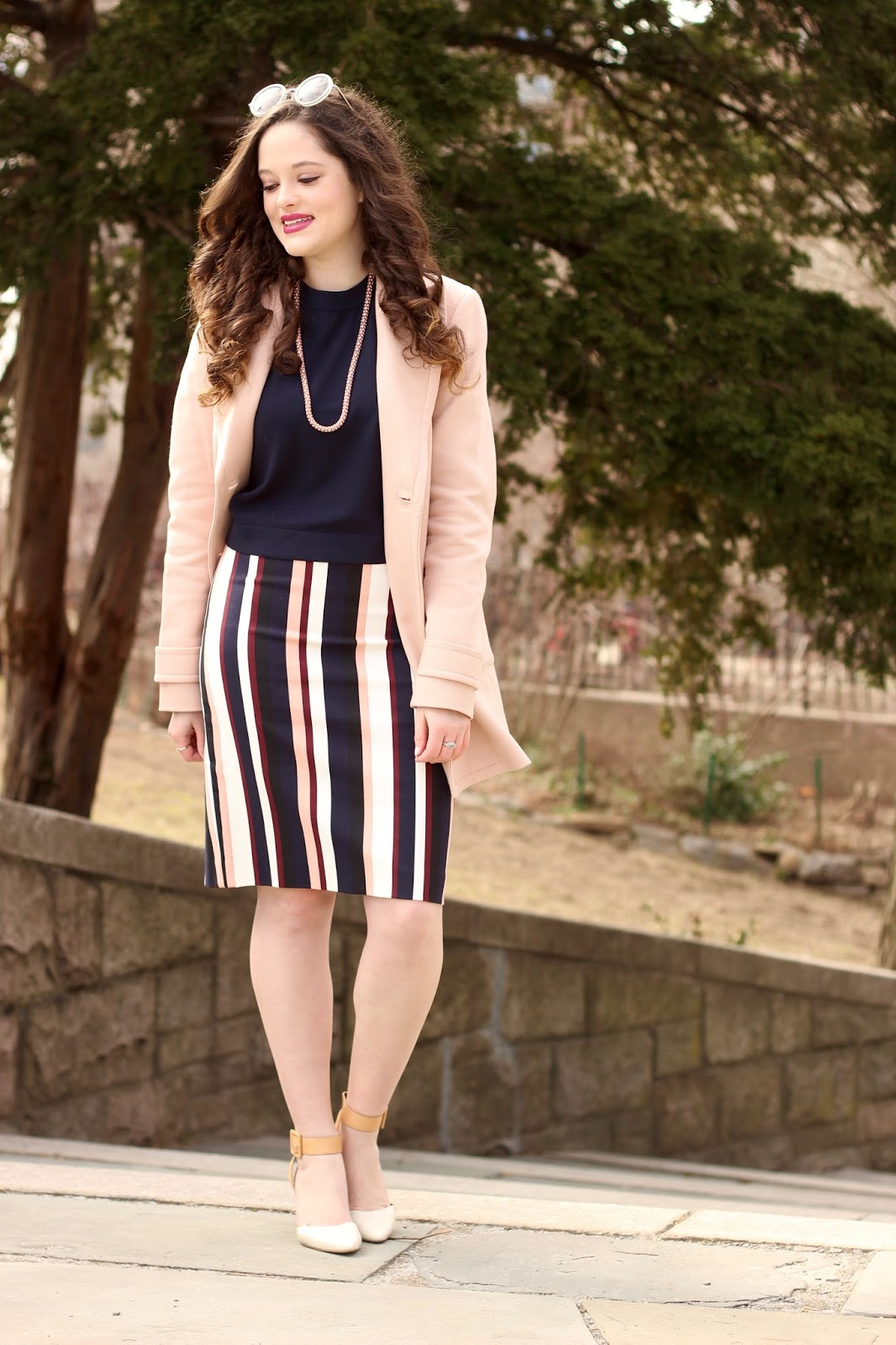 light pink jacket coat
