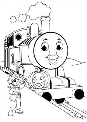 Gambar Mewarnai Thomas and Friends - 21
