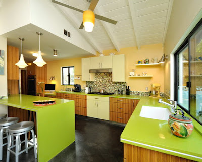 Decorar Cozinhas em tons de verdes