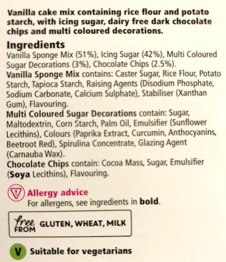 ingredients free from cake mix Tesco