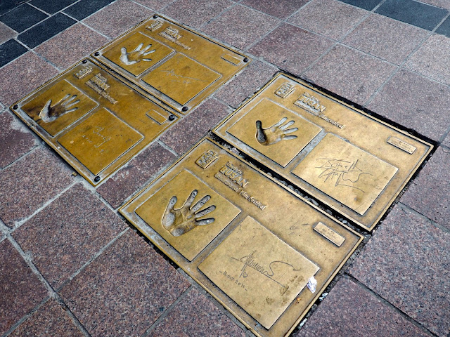 Handprints of famous actors outside Piff Square in Nampo-dong, Busan, South Korea