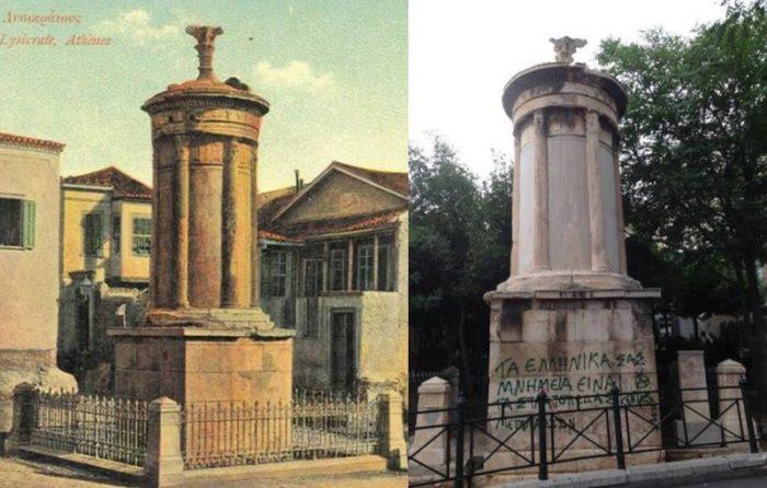 Έβαψαν με σπρέι ακόμα και το μνημείο του Λυσικράτη. Γιατί η τελευταία φορά που τιμωρήθηκε κάποιος για καταστροφή αγαλμάτων ήταν πριν από 2.500 χρόνια;