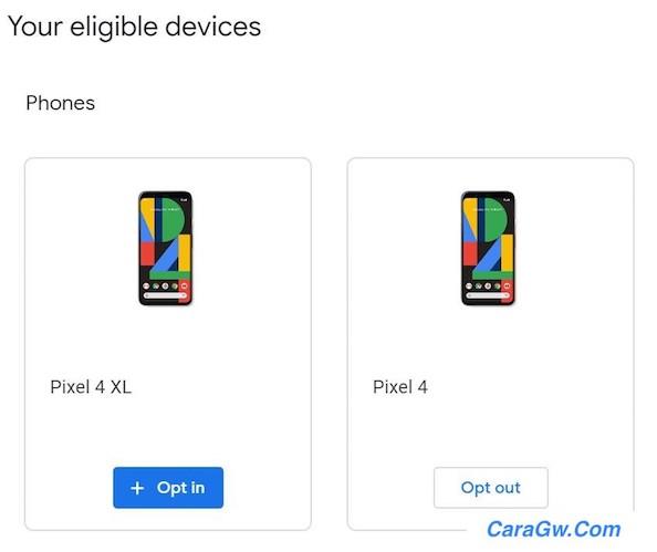 Proses install Android 11 beta satu