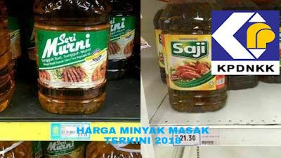 Harga Minyak Masak Terkini 2018 Malaysia