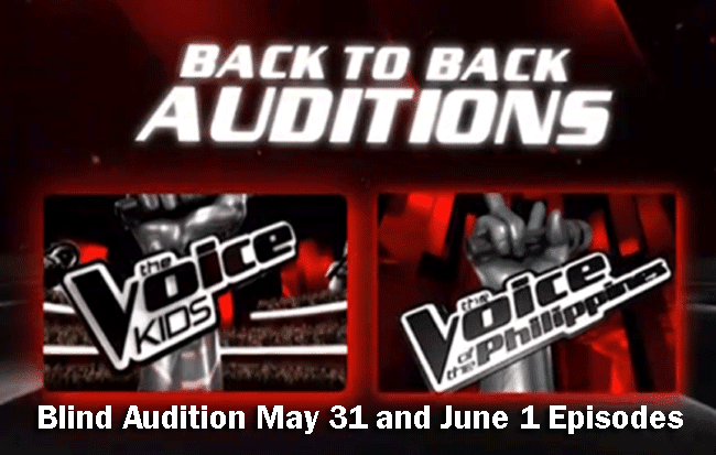 The Voice Kids Blind Audition May 31 and June 1 Episodes