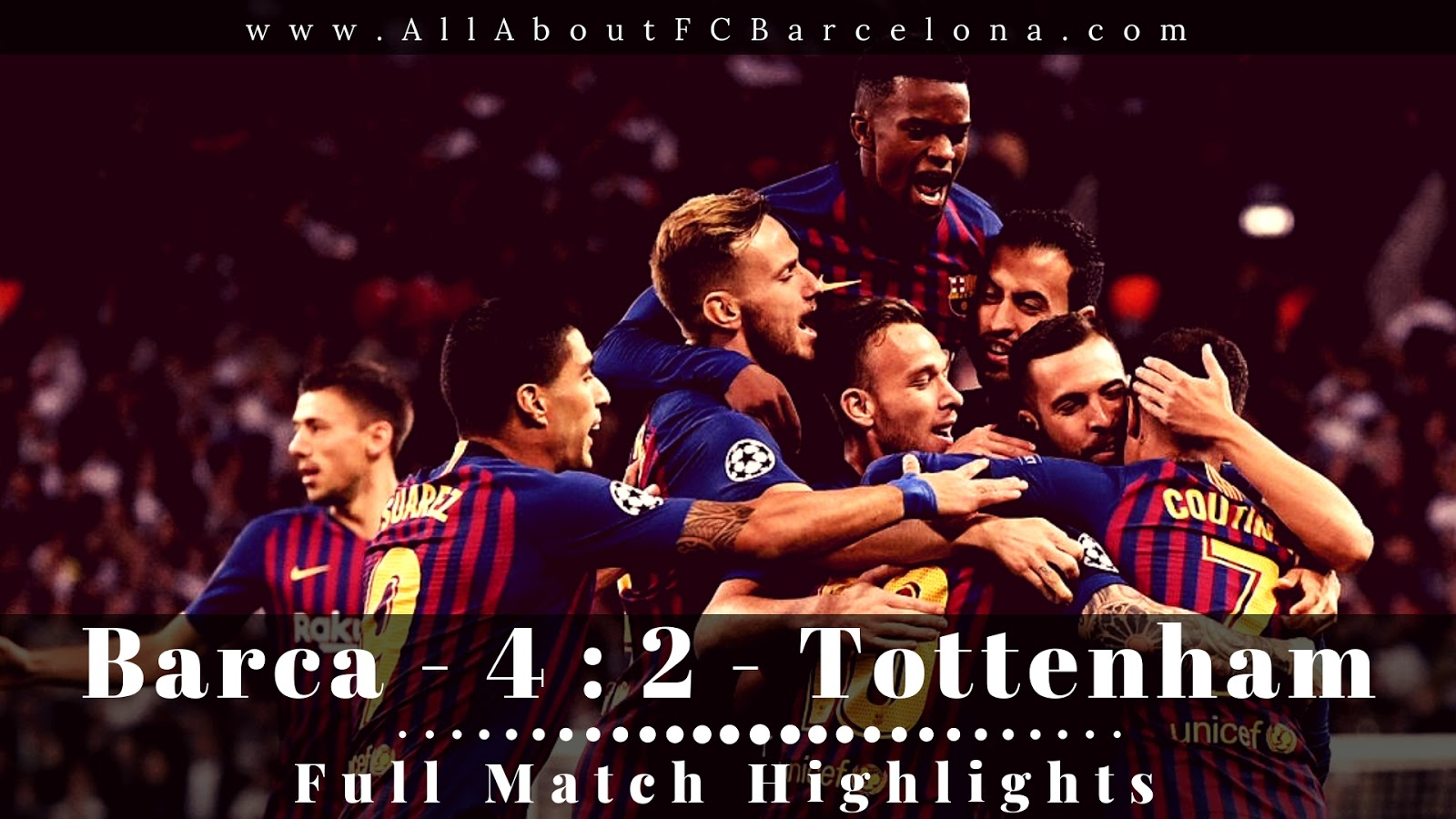 FC Barcelona vs Tottenham Full Match Highlights