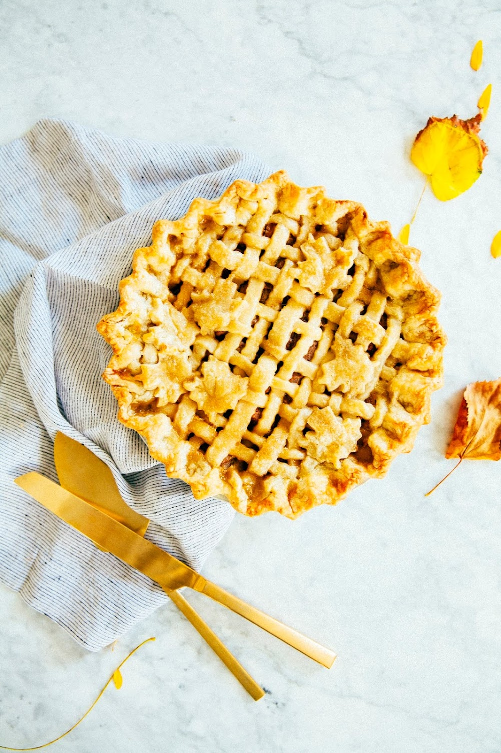 maple pear pie with a cream cheese crust
