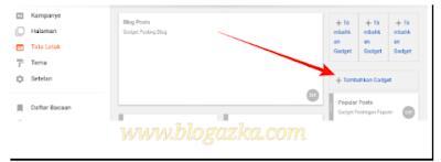 menambahkan widget html di tata letak blog