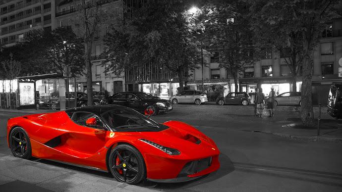 Wallpaper: Super Red Car LaFerrari