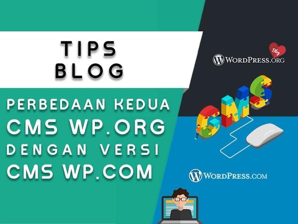 perbedaan dari wordpress.org dan wordpress.com