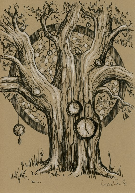 01-The-Passing-of-The-Seasons-Lucie-Ondruskova-LucieOn-A-Glimpse-of-Fairyland-Animals-in-Drawings-www-designstack-co