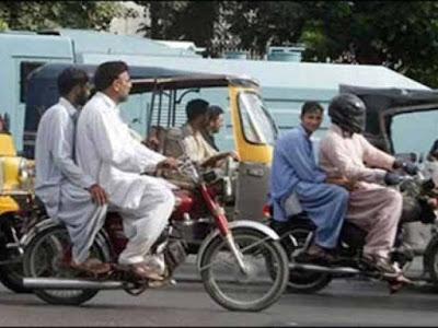 Karachi Main Aik Bar Phir Double Sawari Per Pabandi