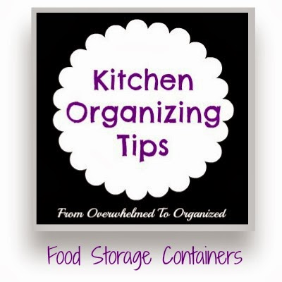 The Secret for Organizing Food Storage Containers so They Stay Organized | fromoverwhelmedtoorganized.blogspot.com