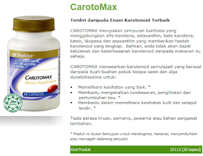 Vitamin Rabun CArotomax Shaklee