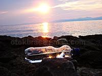 Zalazak sunca Mirca otok Brač slike