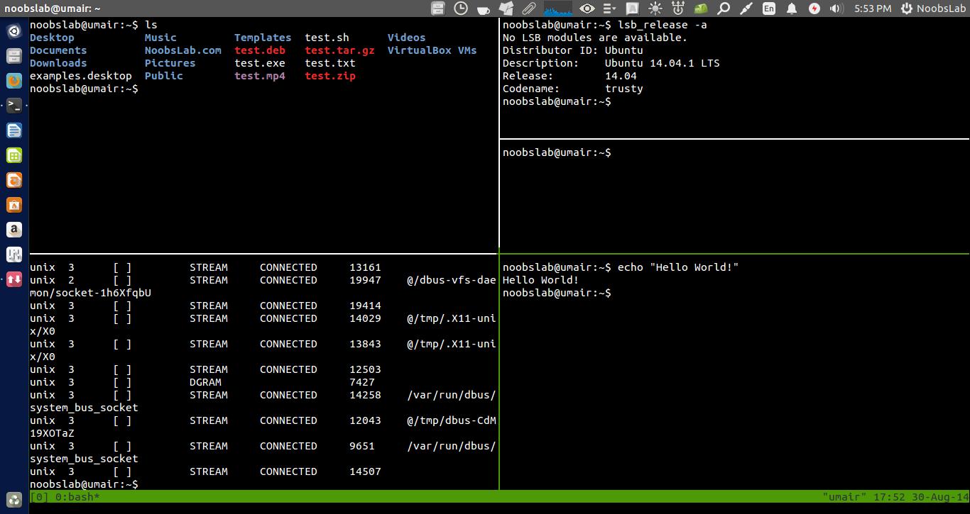 Split Ubuntu(Gnome) Terminal Screen And Work Like A Professional
