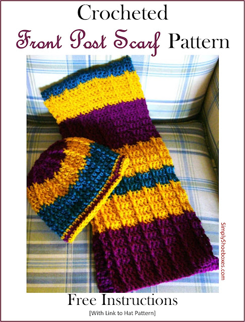 Front Post Double Crochet Scarf Pattern for OCC Shoeboxes
