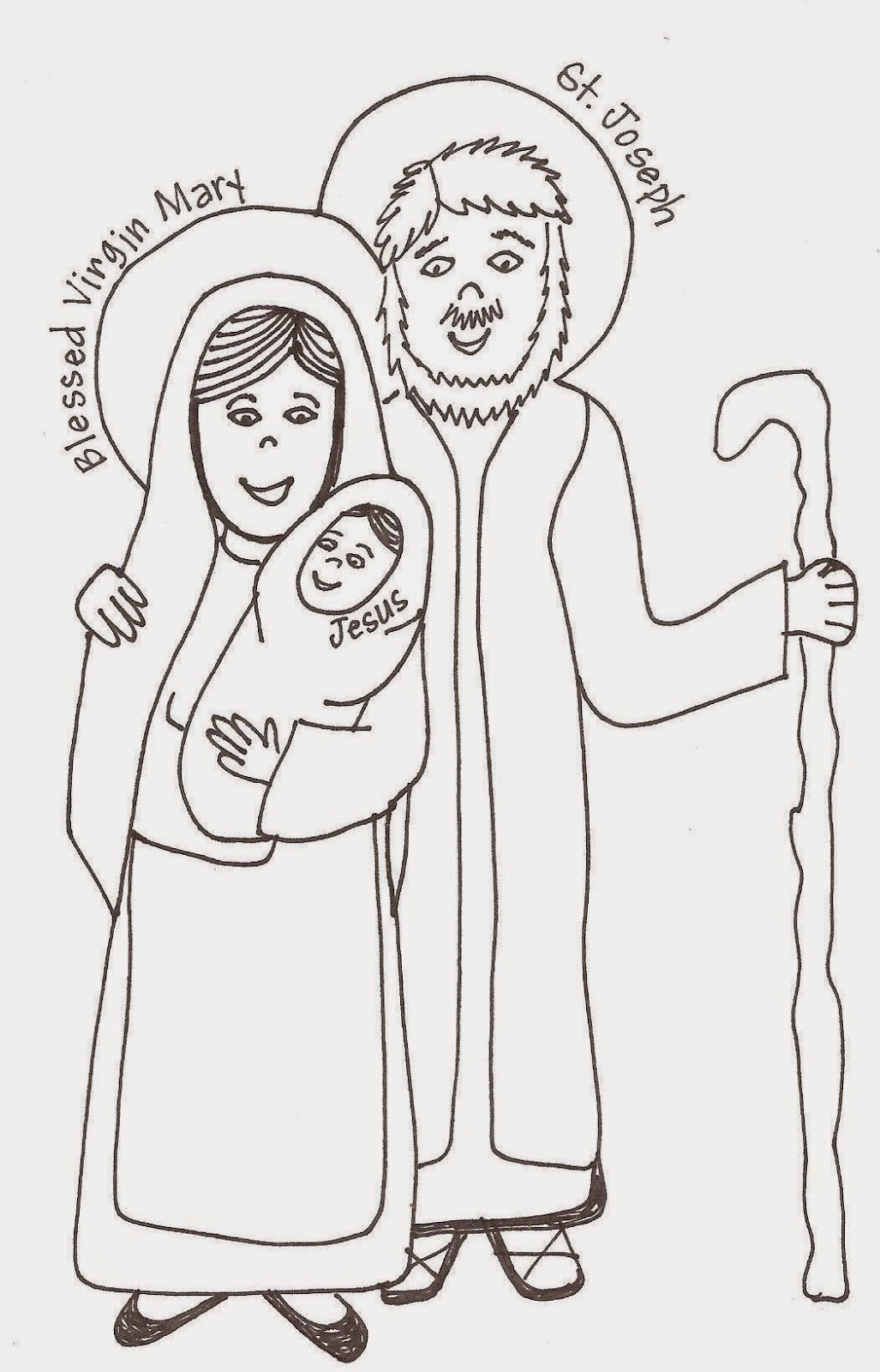 http://looktohimandberadiant.blogspot.com/2013/05/saints-coloring-pages-and-murals-holy.html