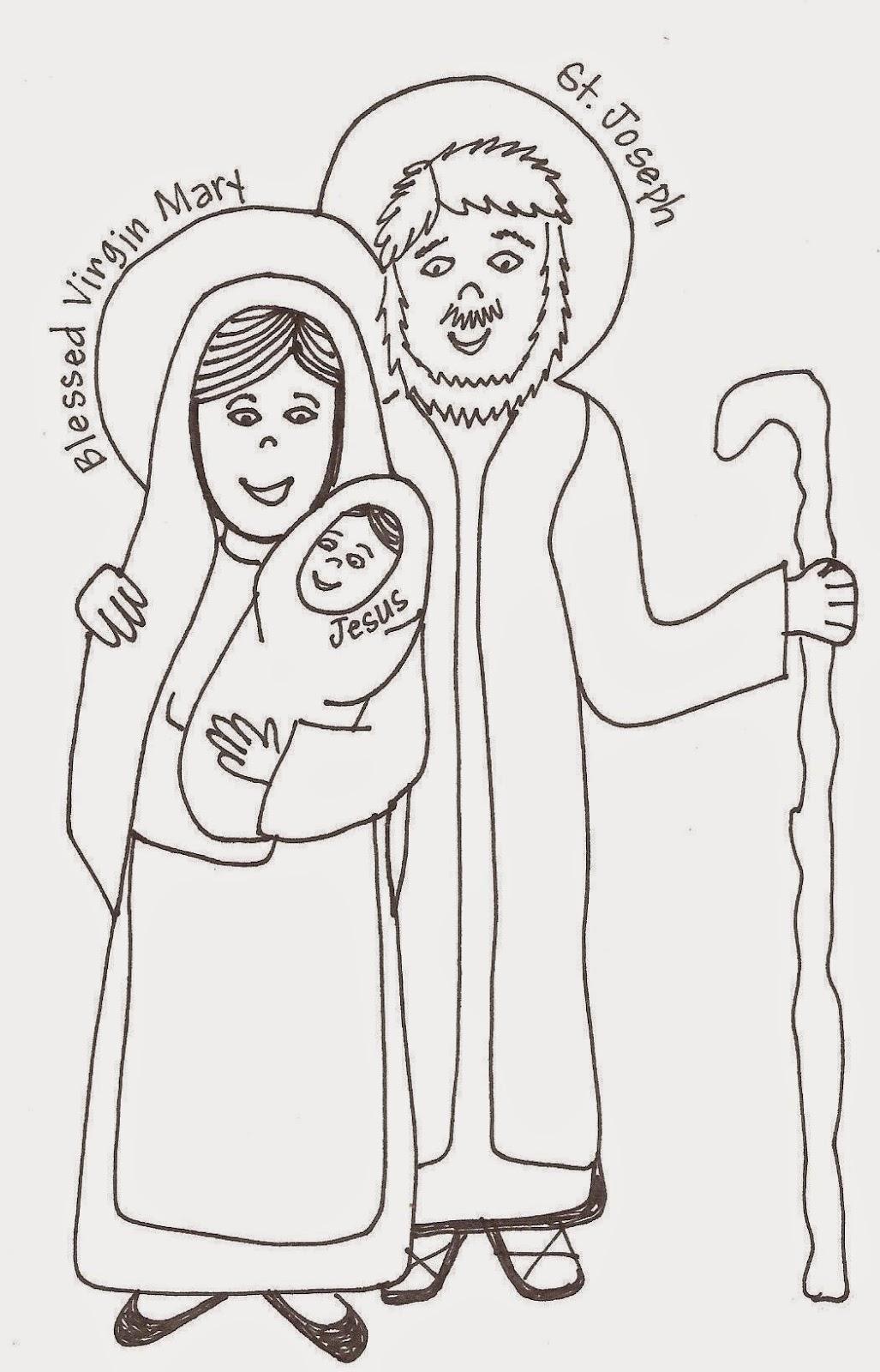 Holy Family Coloring Page Looktohimandberadiantblogspot 2013 05 Saints