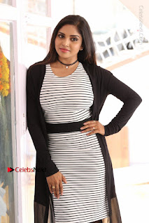 Telugu Actress Karunya Chowdary Stills in Black Dress at Soda Goli Soda Movie Opening  0132.JPG