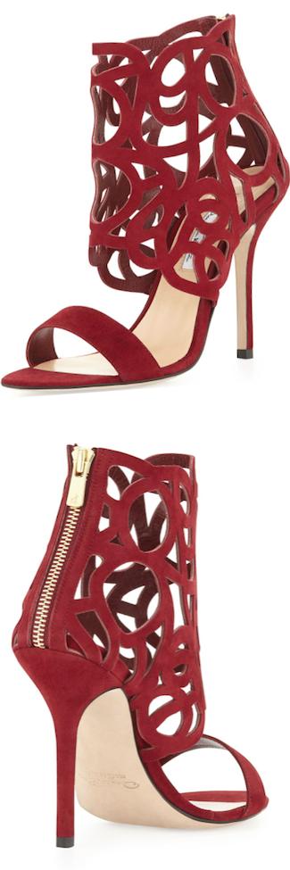 RED Oscar de la Renta cutout sandal