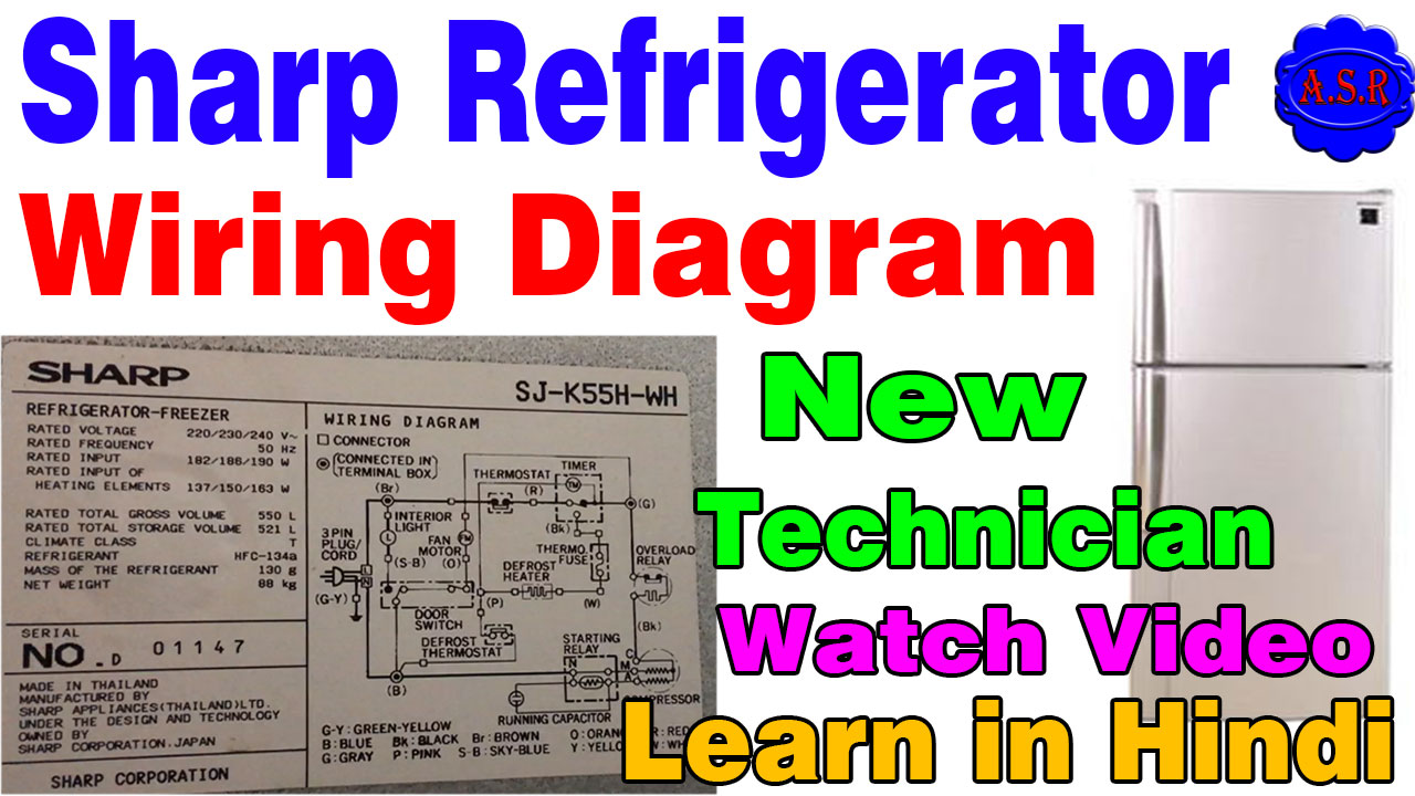 about this video this video in learn sharp fridge wiring diagram learn how control thermostat timer over load starting relay capacitor learn in hindi full  [ 1280 x 720 Pixel ]