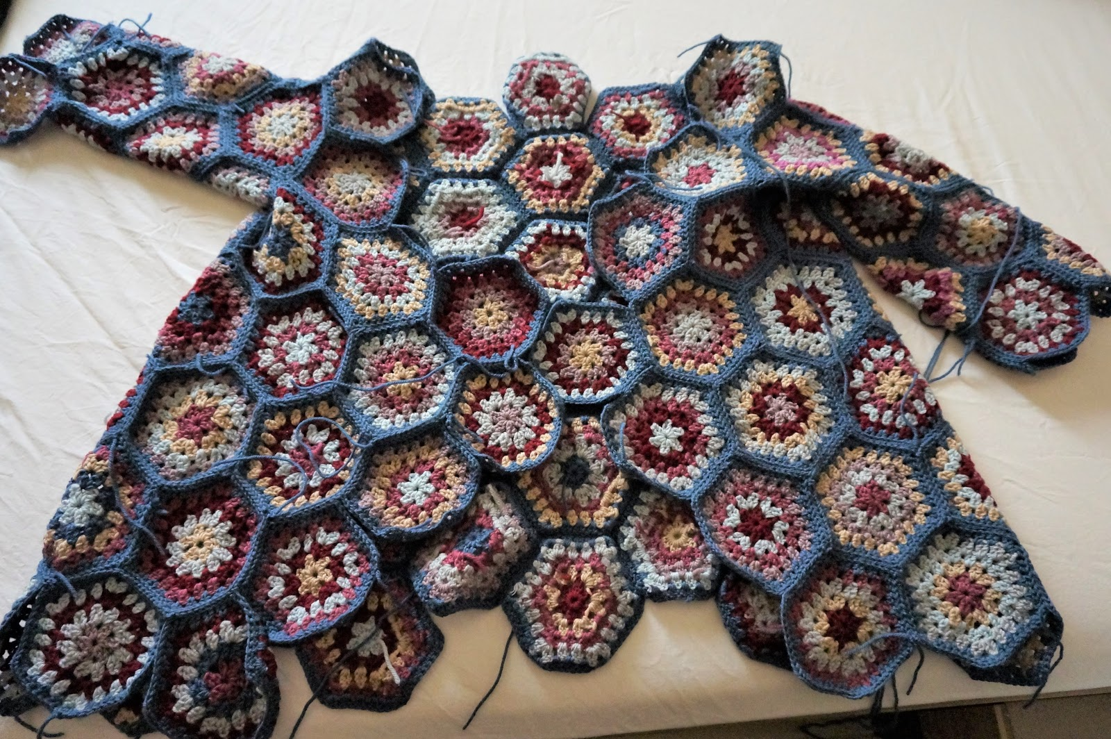 How To Crochet Half Granny Hexagon-9823