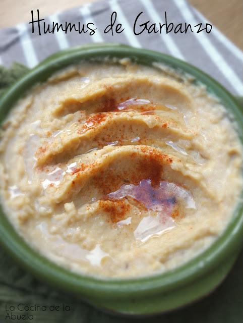 Hummus de Garbanzo - Receta Vegana.