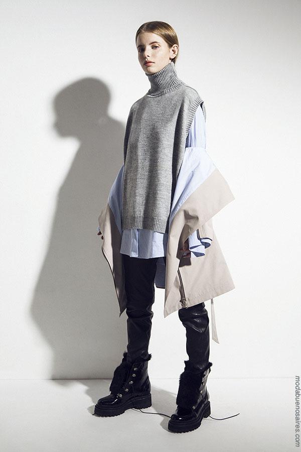 Chalecos otoño invierno 2018. Ropa de moda invierno 2018.