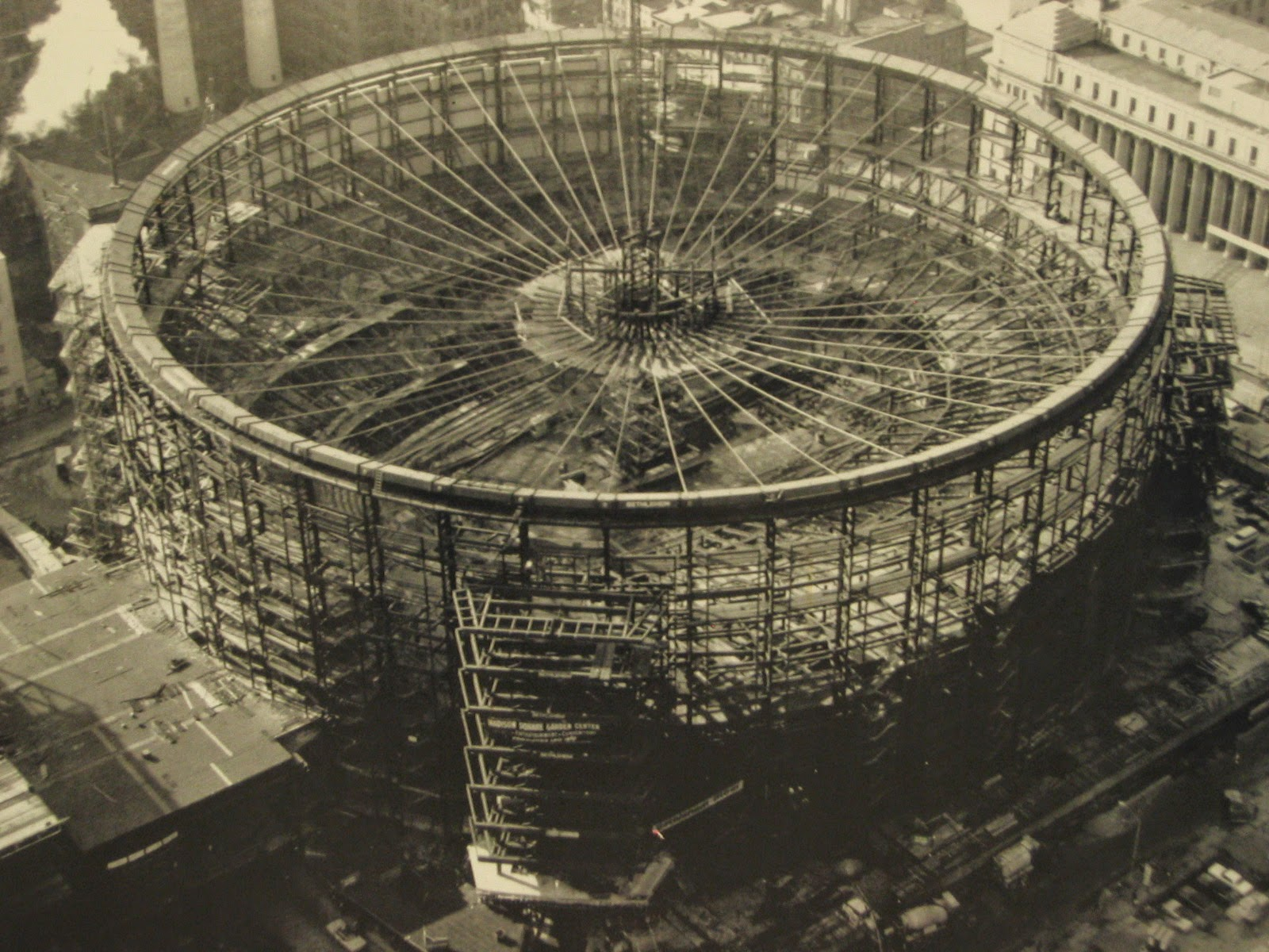 Madison Square Garden During Construction Ca 1966