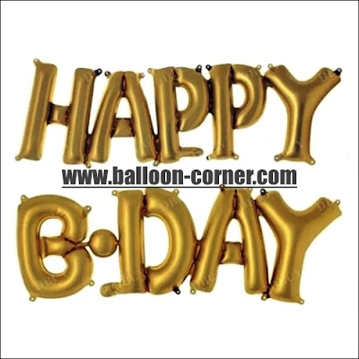 Balon Foil Huruf HAPPY BDAY Link