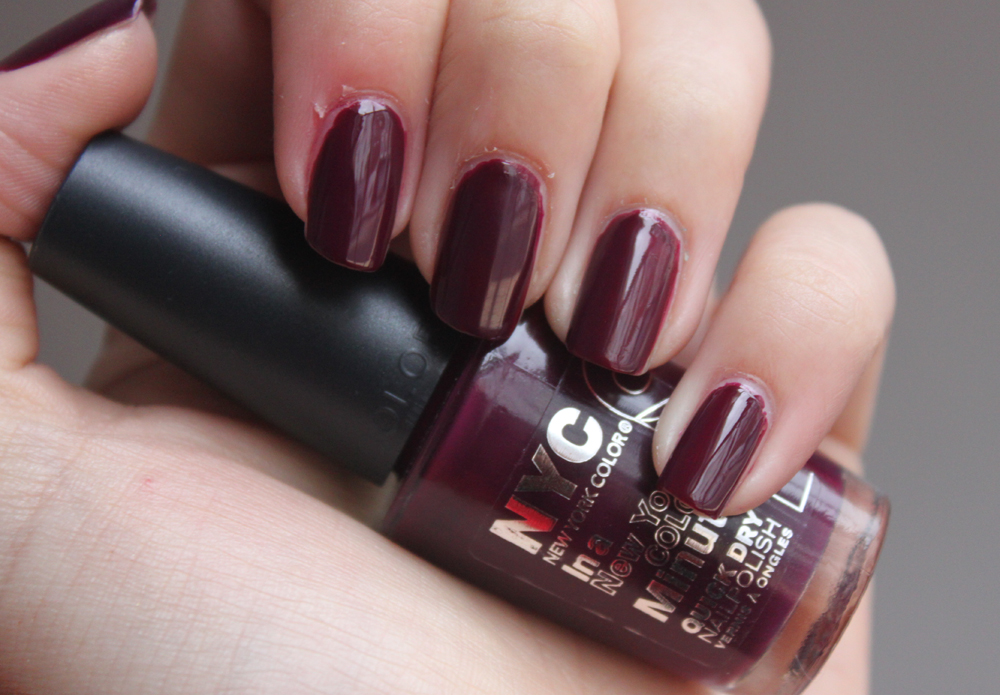 Nyc Plum Nails A Little Obsessed