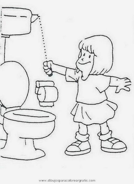 Hábitos de higiene - Dibujos para colorear Dibujos para colorear ...