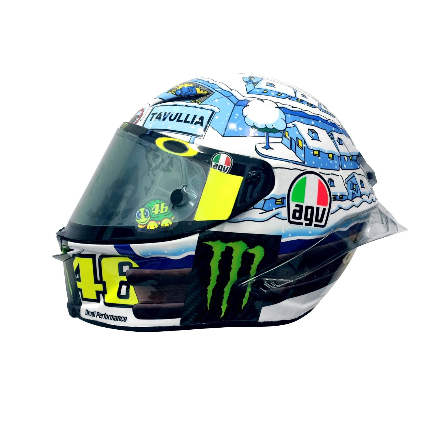 champion helmets agv pista gp r winter test 2017 rossi helmet. Black Bedroom Furniture Sets. Home Design Ideas