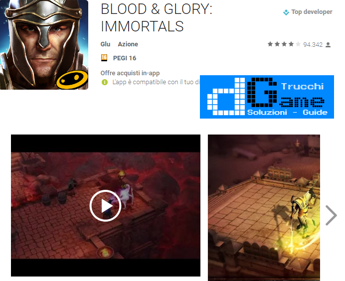 Trucchi BLOOD & GLORY: IMMORTALS  Mod Apk Android v2.0.0