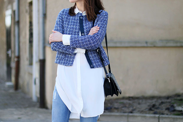 styling jeans with shirt dress