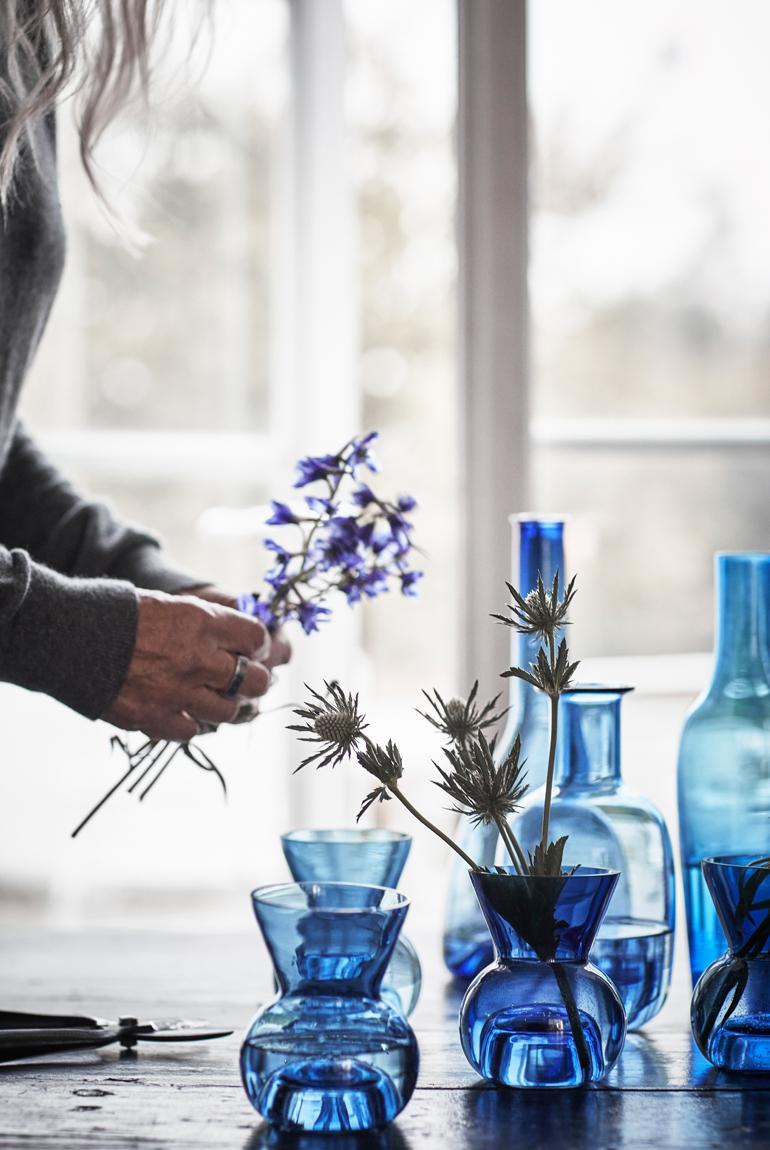 ikea stockholm vidrio azul